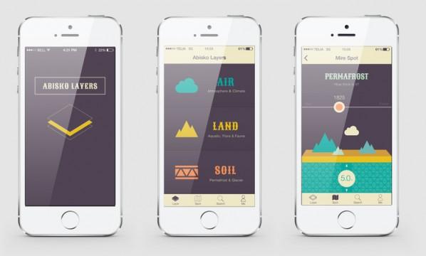Mobilioji aplikacija apie tyrimus arktinėje stotyje Abisko